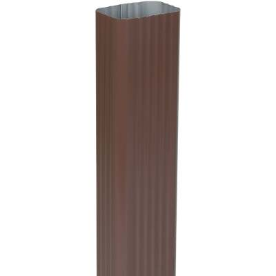 Spectra Metals 2 In. x 3 In. Brown Aluminum Downspout