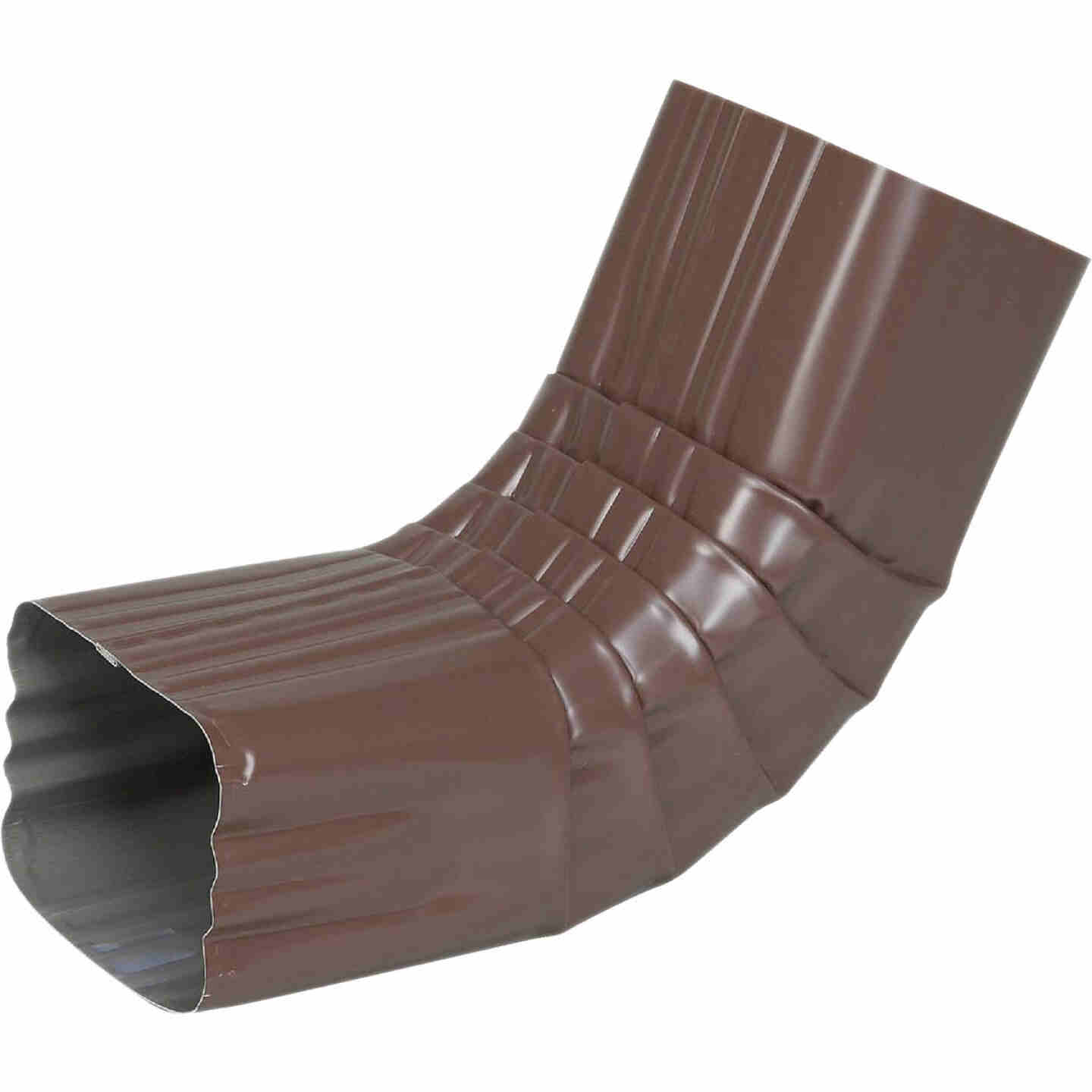 Spectra Metals 3 x 4 In. Aluminum Brown Front Downspout Elbow Image 1