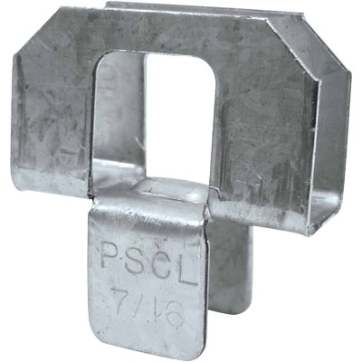 Simpson Strong-Tie 7/16 In. Galvanized Steel 20 ga Plywood Clip