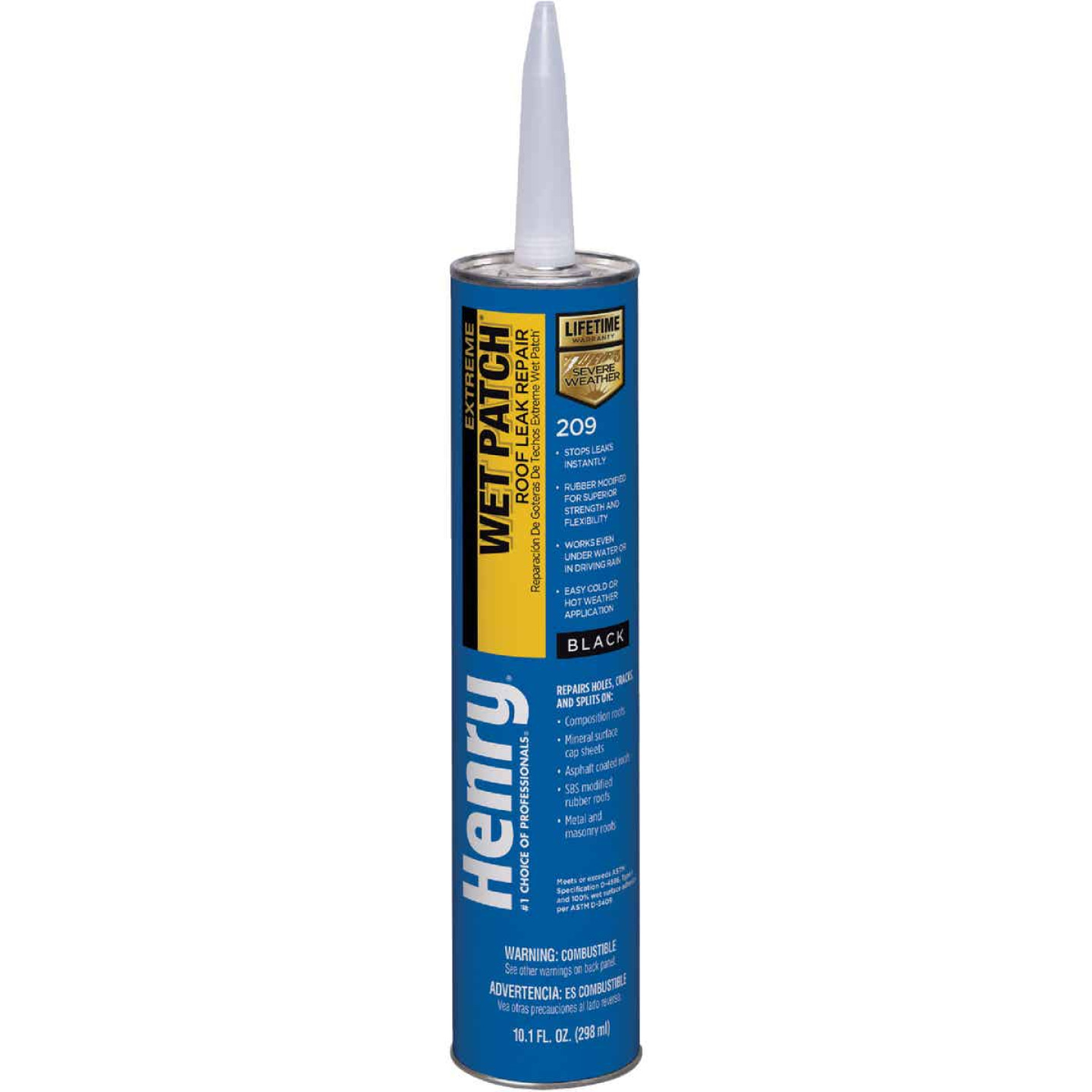 Henry Wet Patch 10.1 Oz. Extreme Roofing Cement & Patching Sealant Image 1