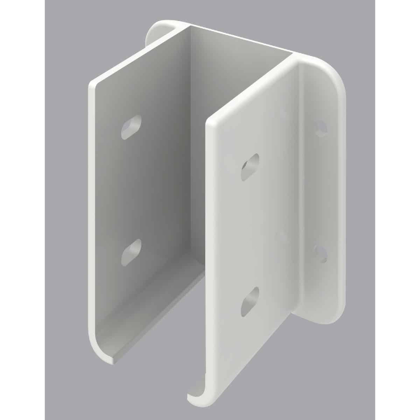 Outdoor Essentials 1-1/2 In. x 3 In. White Vinyl Fence Panel Mounting Kit (2-Pack) Image 1