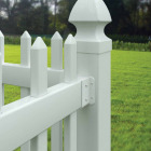 Outdoor Essentials 1-1/2 In. x 3 In. White Vinyl Fence Panel Mounting Kit (2-Pack) Image 2