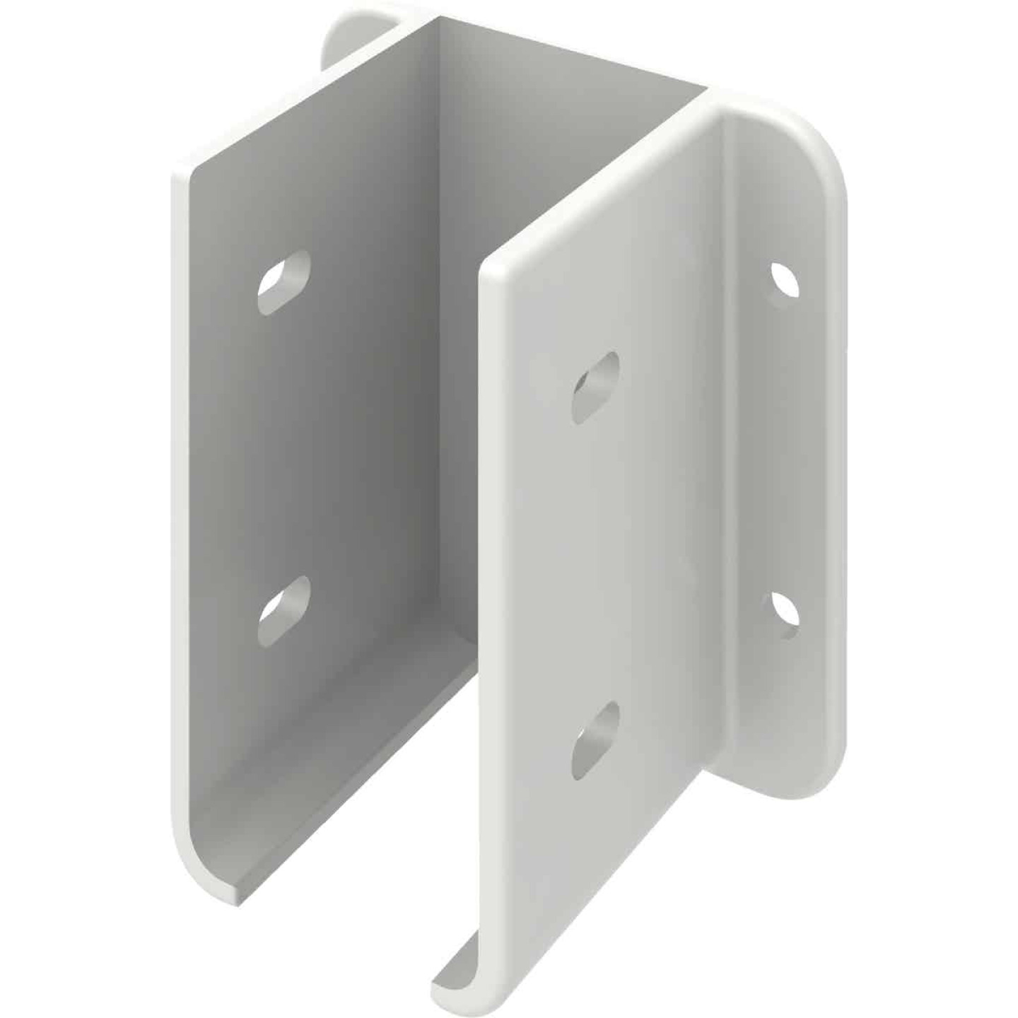 Outdoor Essentials 1-1/2 In. x 3 In. White Vinyl Fence Panel Mounting Kit (2-Pack) Image 3