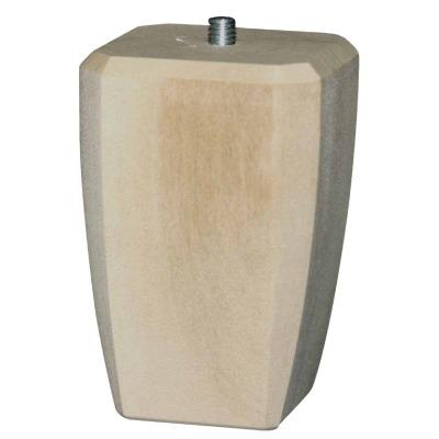 Waddell 4 In. x 2-1/2 In. Square Taper Hardwood Bun Foot