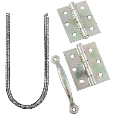 National Zinc 2-Hinge Screen Door Kit
