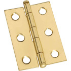 National 1-3/8 In. x 2 In. Brass Ball Tip Hinge (2-Pack) Image 1