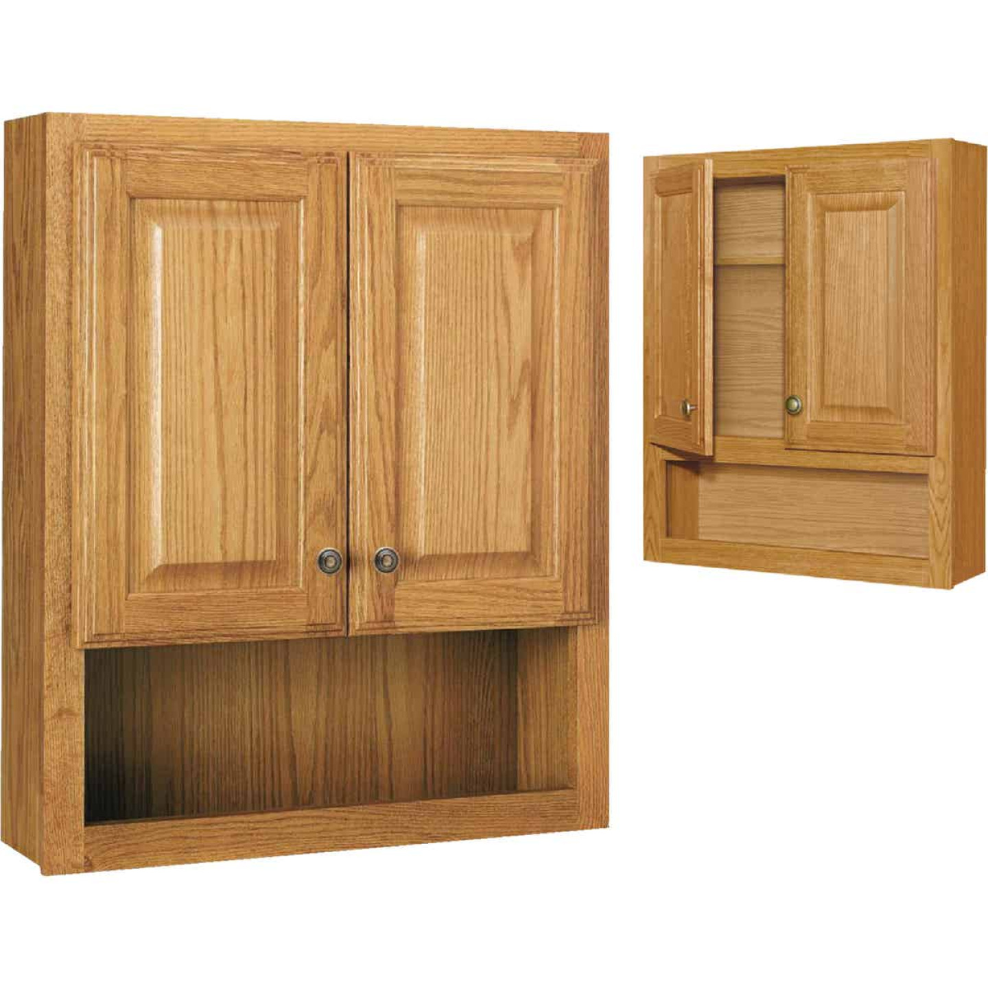 Continental Cabinets Modular Honey Oak Finish 23-1/4 In. W. x 28 In. H. x 7-1/4 In. D. Wood Wall Bath Cabinet Image 1