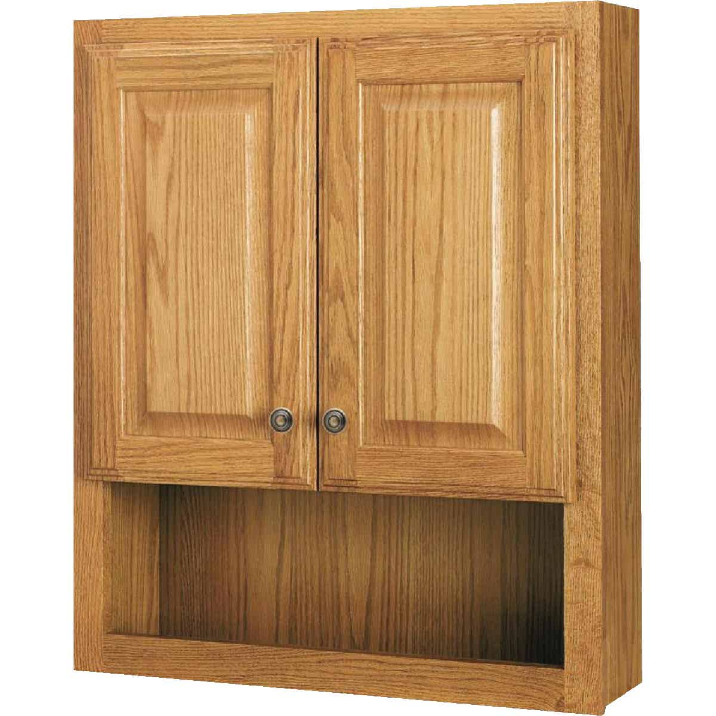 Continental Cabinets Modular Honey Oak Finish 23-1/4 In. W. x 28 In. H. x 7-1/4 In. D. Wood Wall Bath Cabinet Image 3