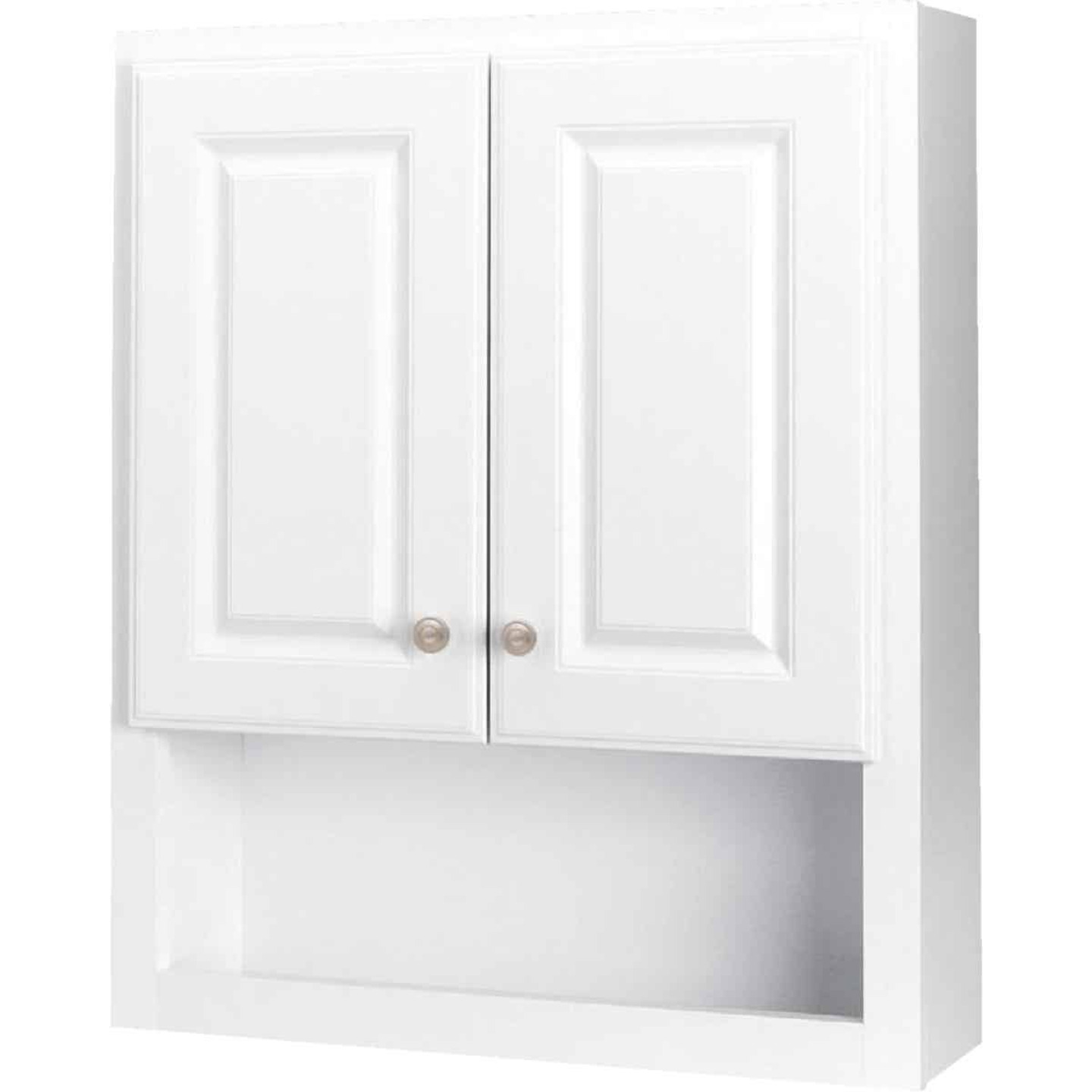 Continental Cabinets Modular Semi-Gloss White Finish 23-1/4 In. W. x 28 In. H. x 7-1/4 In. D. Wood Wall Bath Cabinet Image 3