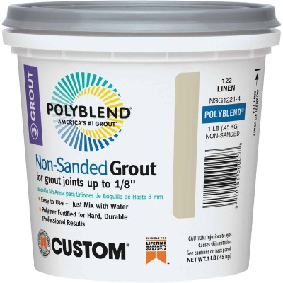 Custom Building Products Polyblend 1 Lb. Bright White Non-Sanded Tile Grout