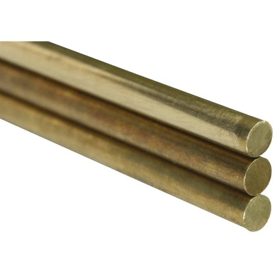K&S 3/8 In. x 36 In. Solid Brass Rod