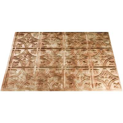 Fasade 18 In. x 24 In. Thermoplastic Backsplash Panel, Bermuda Bronze Traditional 1 Panel