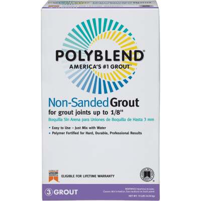 Custom Building Products Polyblend 10 Lb. Pewter Non-Sanded Tile Grout