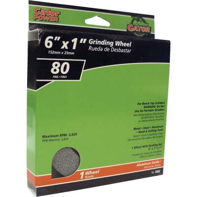 "Gator Blade 6 In. 1 In. Adjustable - 1"", 3/4"", 5/8"", 1/2"" Bench Grinding Wheel"