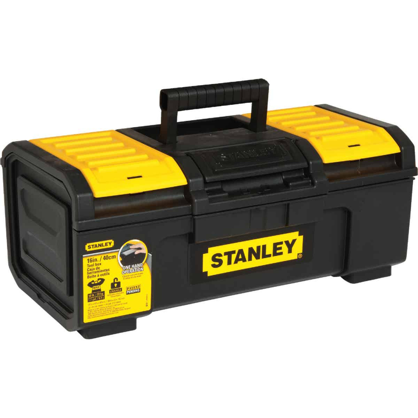 Stanley 16 In. Auto Latch Toolbox Image 3