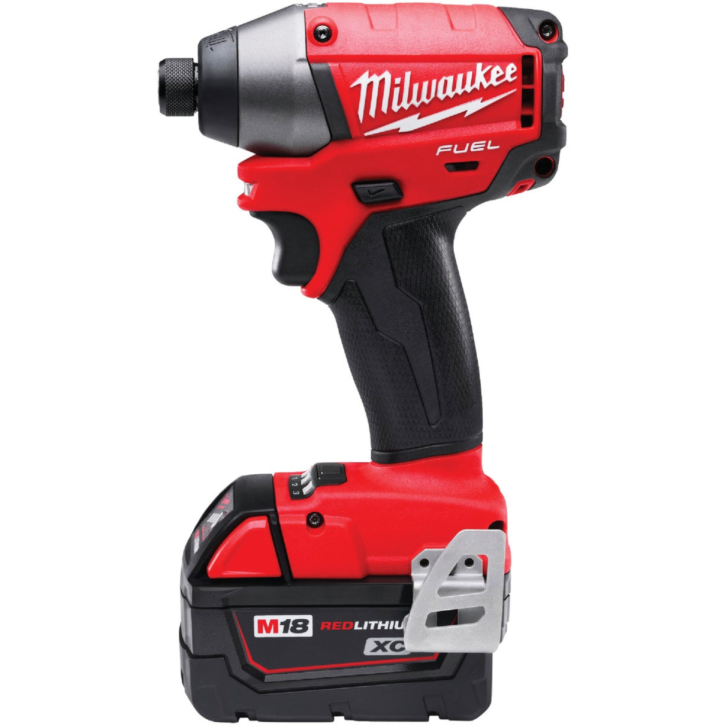 Milwaukee M18 FUEL 18 Volt XC Lithium-Ion Brushless 1/4 In. Hex Cordless Impact Driver Kit (with 2 Batteries) Image 5