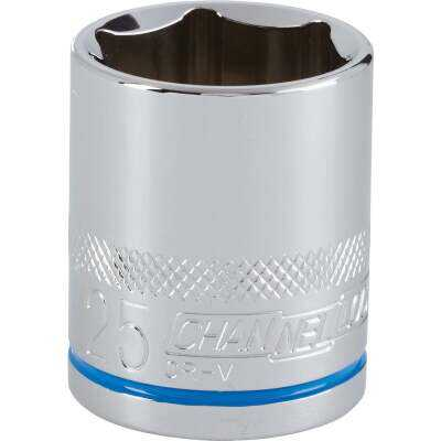 Channellock 1/2 In. Drive 25 mm 6-Point Shallow Metric Socket