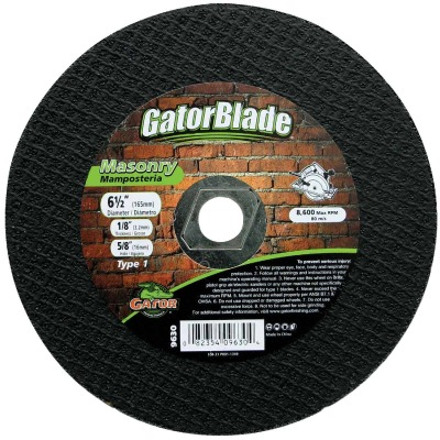 Gator Blade Type 1 6-1/2 In. x 5/8 In. x 1/8 In. Masonry Cut-Off Wheel