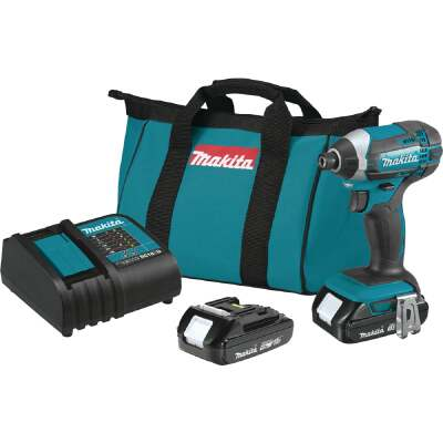 Makita 18 Volt Lithium-Ion 1/4 In. Hex Cordless Impact Driver Kit