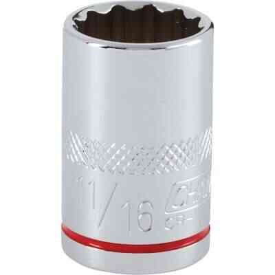Channellock 1/2 In. Drive 11/16 In. 12-Point Shallow Standard Socket