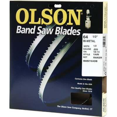 Olson 64-1/2 In. x 1/2 In. 10/14 TPI Vari Metal Cutting Band Saw Blade