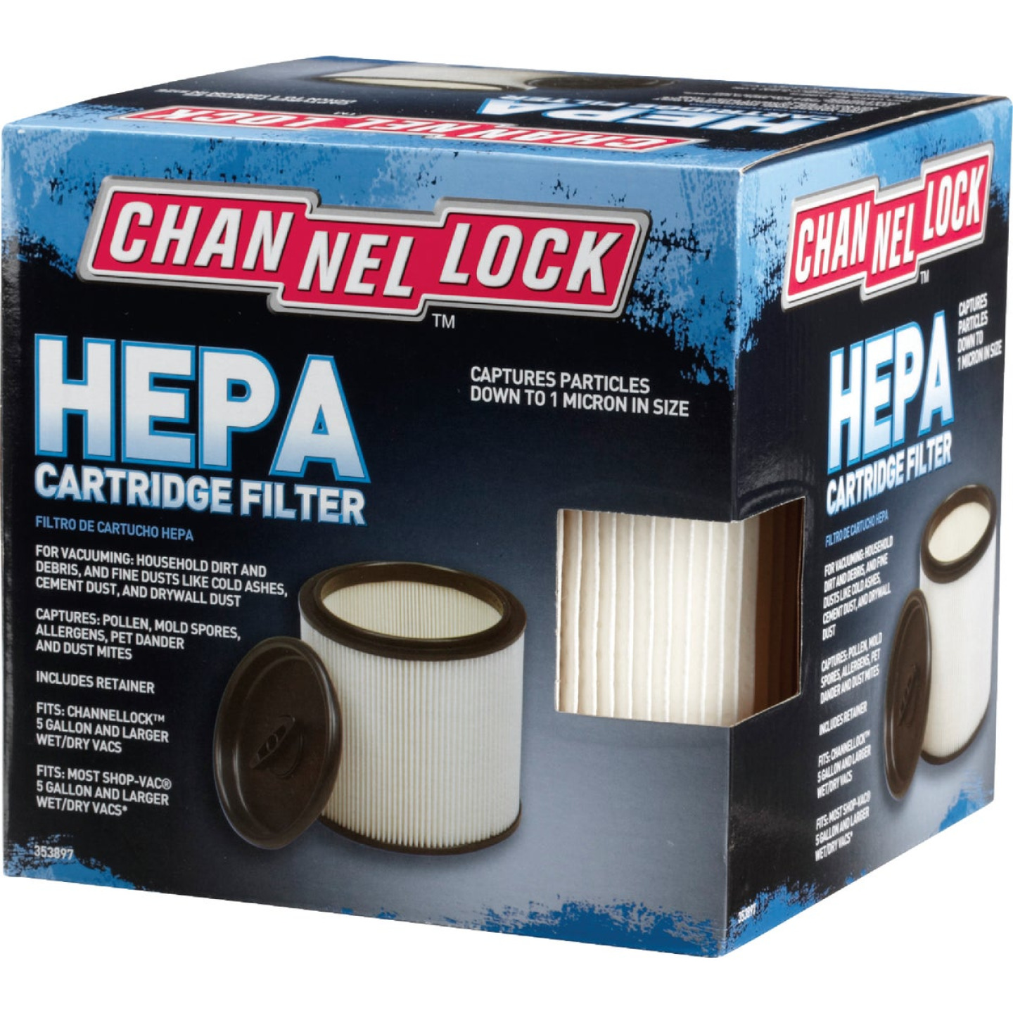Channellock Cartridge HEPA 5 to 20 Gal. Vacuum Filter Image 2