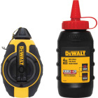 DeWalt 100 Ft. Chalk Line Reel and Chalk, Red Image 1