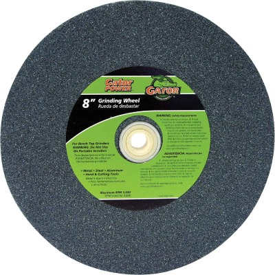 "Gator Blade 8 In. 1 In. Adjustable - 1"", 3/4"", 5/8"" Bench Grinding Wheel"