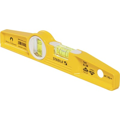 Stabila 10 In. Aluminum Rare Earth Magnetic Torpedo Level