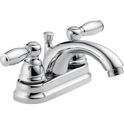 Peerless Claymore Chrome 2-Handle Lever 4 In. Centerset Bathroom Faucet with Pop-Up