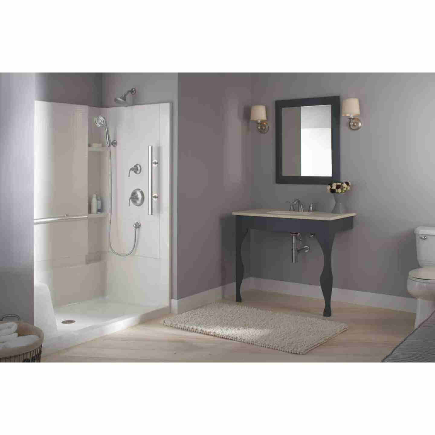 Sterling Accord 48 In. W x 36 In. D Center Drain Seated Shower Floor & Base in White Image 4