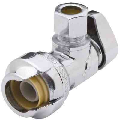 SharkBite1/2 In. SB X 3/8 In. OD Quick Connect Angle Valve