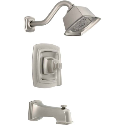 Moen Boardwalk Brushed Nickel Single-Handle Lever Tub and Shower Faucet