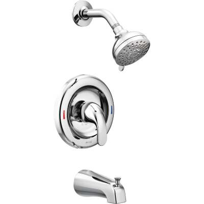 Moen Adler Chrome Single-Handle Lever Tub and Shower Faucet