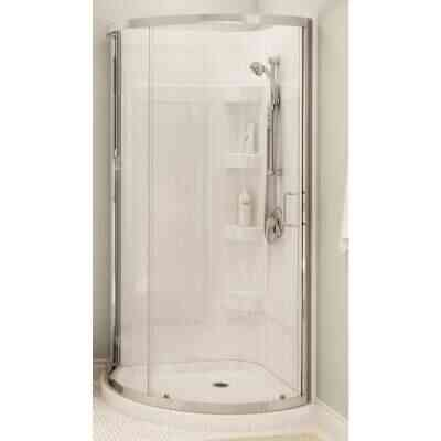 Maax 34 In. W. 76 In. H. x 34 In. D. White with Chrome Finish Acrylic/ABS Shower Kit