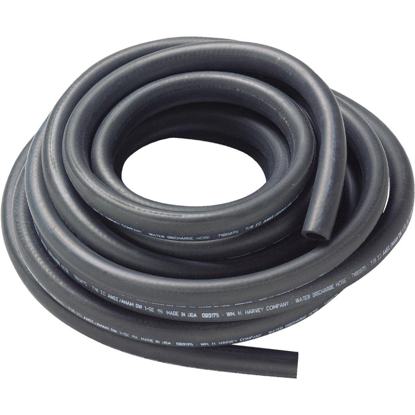 Harvey 7/8 In. x 50 Ft. Reinforced Coil Replacement Dishwasher Drain Hose Image 1