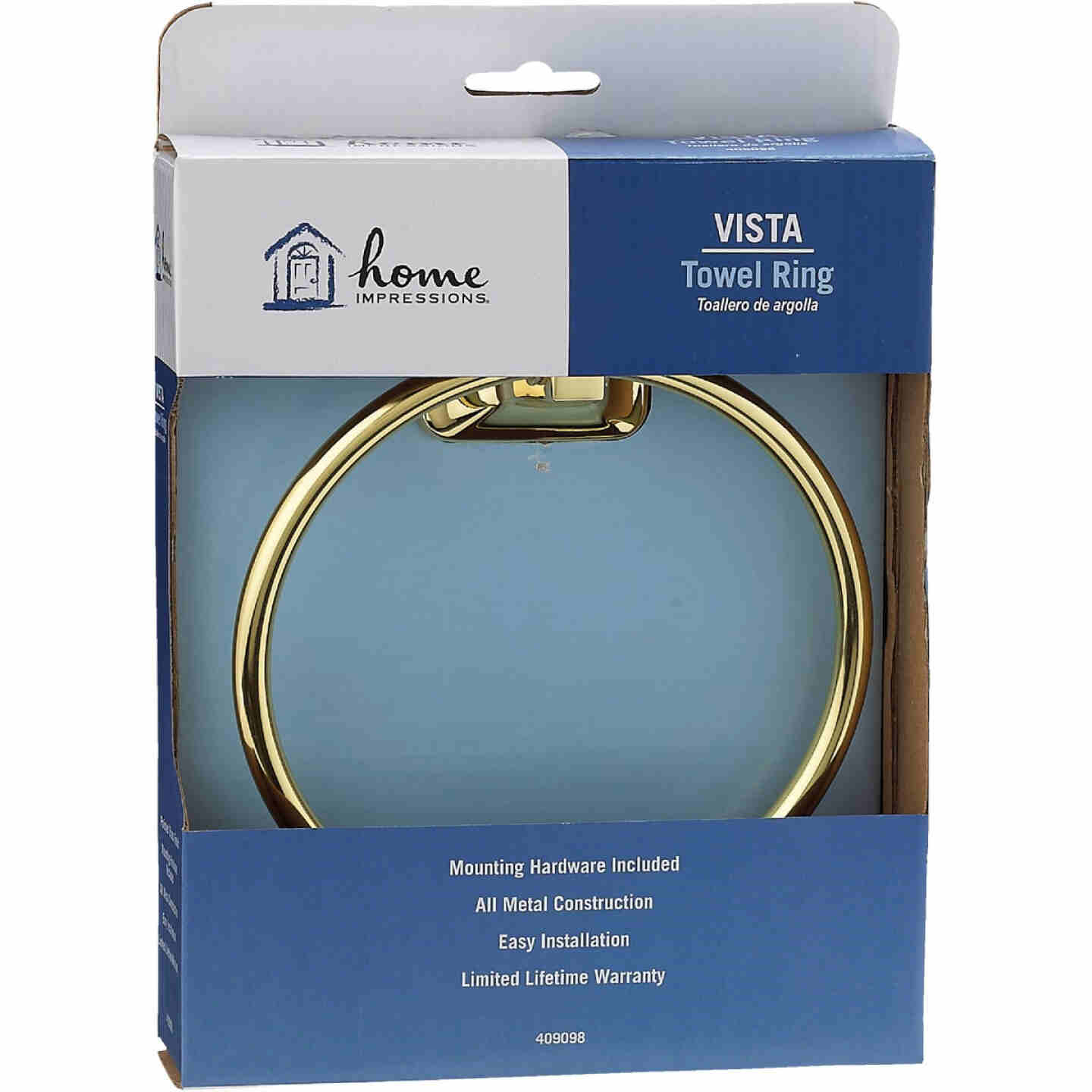 Home Impressions Brass Towel Ring Image 2