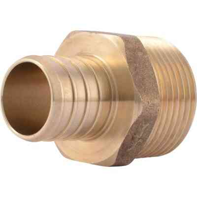 SharkBite 1 In. CF x 1 In. MPT Brass PEX Adapter