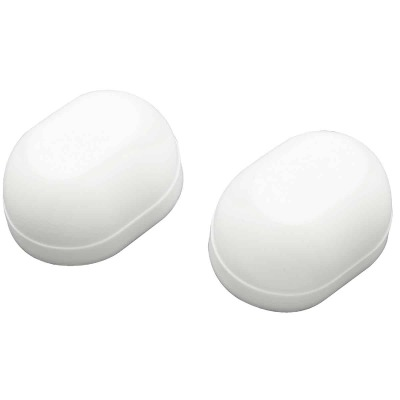 Do it Oval White Plastic Snap-On Toilet Bolt Caps (2 Ct.)