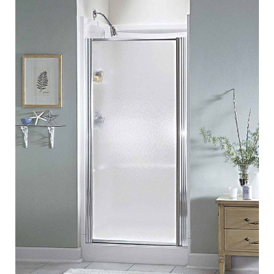 Sterling 32-1/2 In. W. X 64 In. H. Chrome Hammered Glass Standard Pivot Shower Door