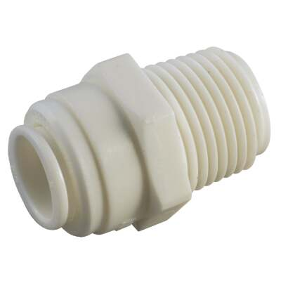 Anderson Metals 5/8 In. x 1/2 In. MPT Push-In Plastic Connector