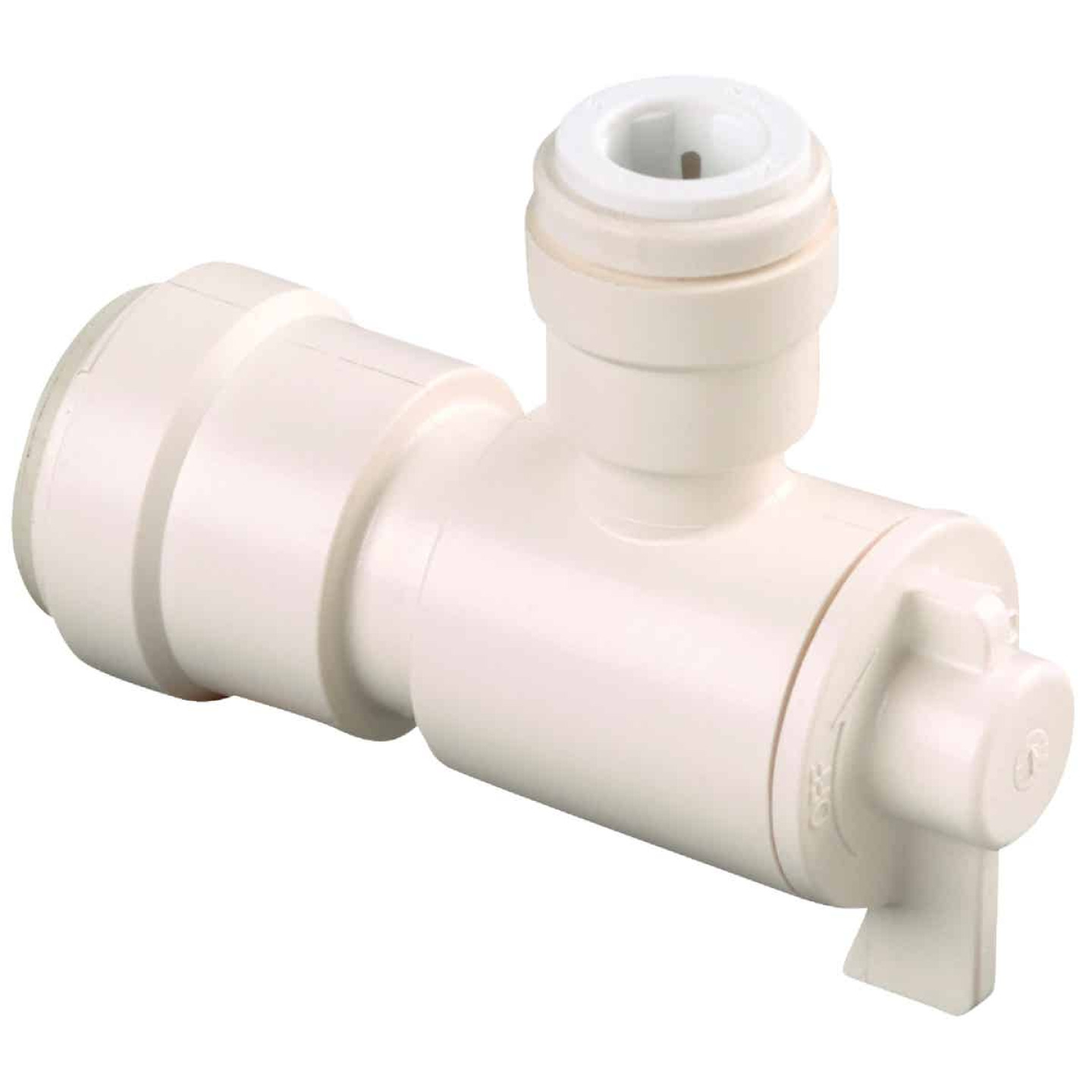 Watts 1/2 In. CTS X 1/4 In. CTS Quick Connect Stop Angle Valve Image 1