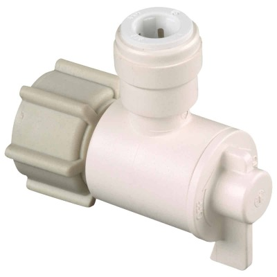 Watts 1/2 In. FPT X 3/8 In. CTS Quick Connect Stop Angle Valve