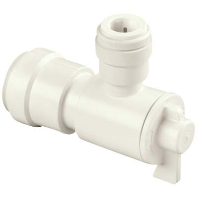 Watts 1/2 In. CTS X 1/2 In. OD Quick Connect Stop Angle Valve