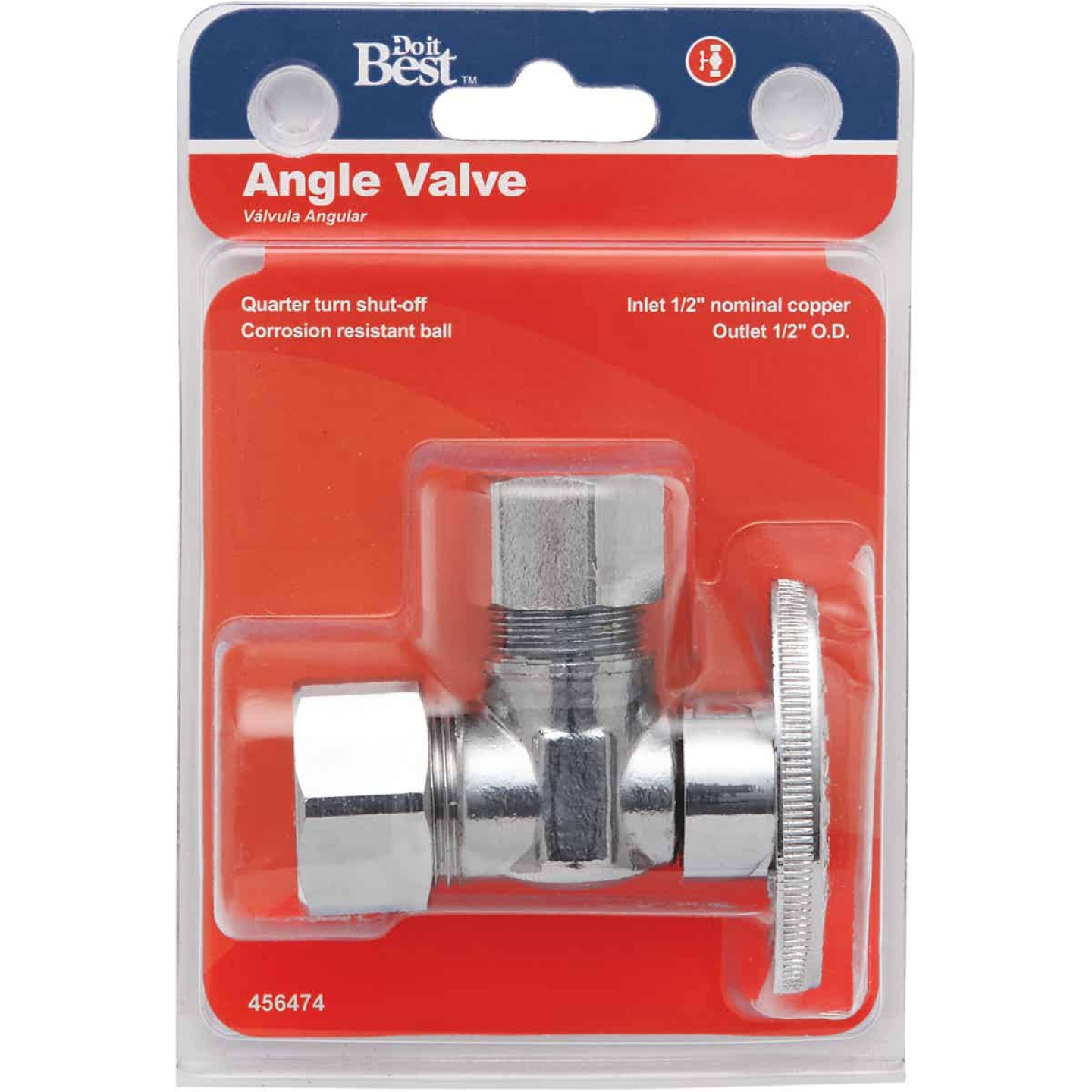 Do it 5/8 In. OD x 1/2 In. OD Quarter Turn Angle Valve Image 2