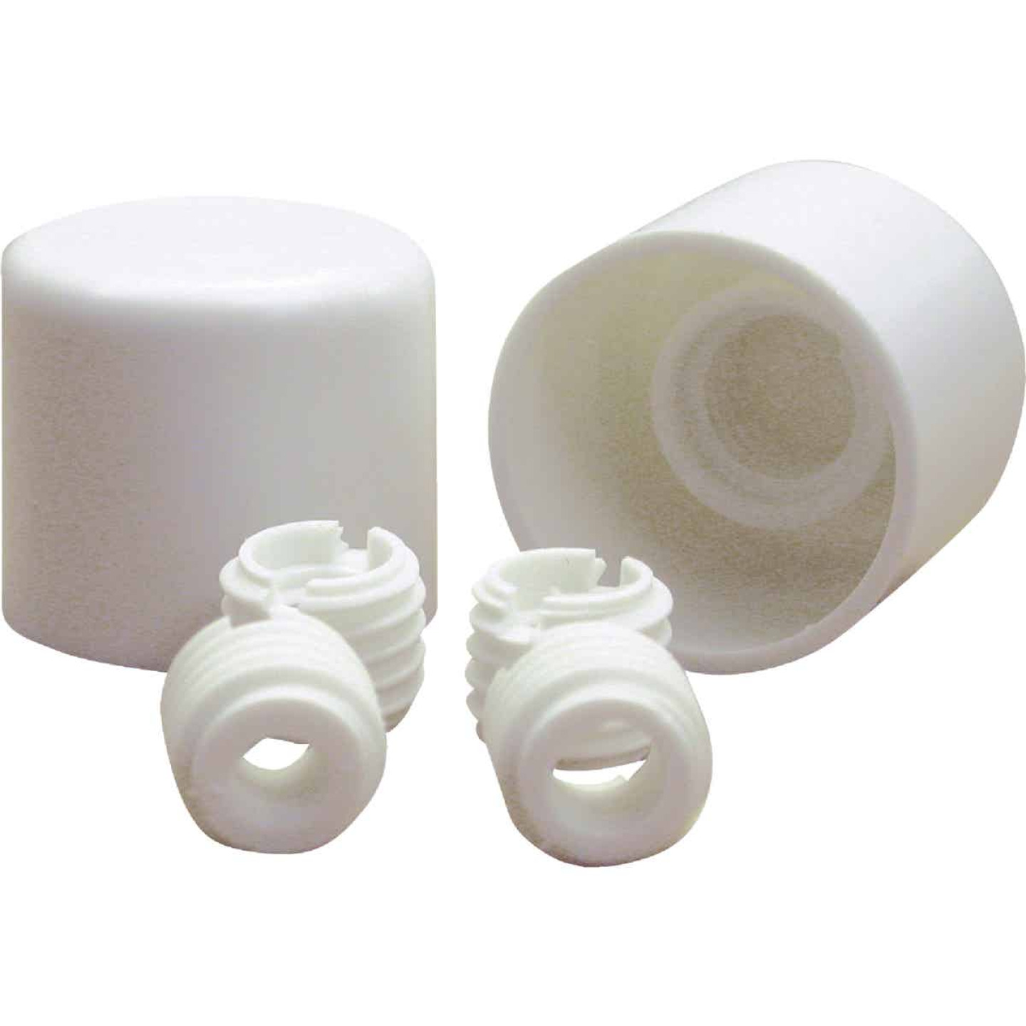 Danco Twister White Plastic Screw-On Toilet Bolt Caps (2-Ct.) Image 1