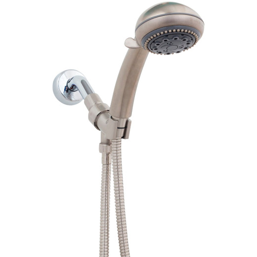 Whedon Champagne Massage 5-Spray 2.5 GPM Handheld Shower, Brushed Nickel