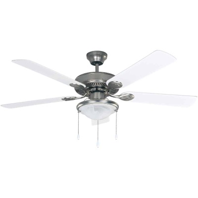 Home Impressions Kincade 52 In. Brushed Nickel Ceiling Fan with Light Kit