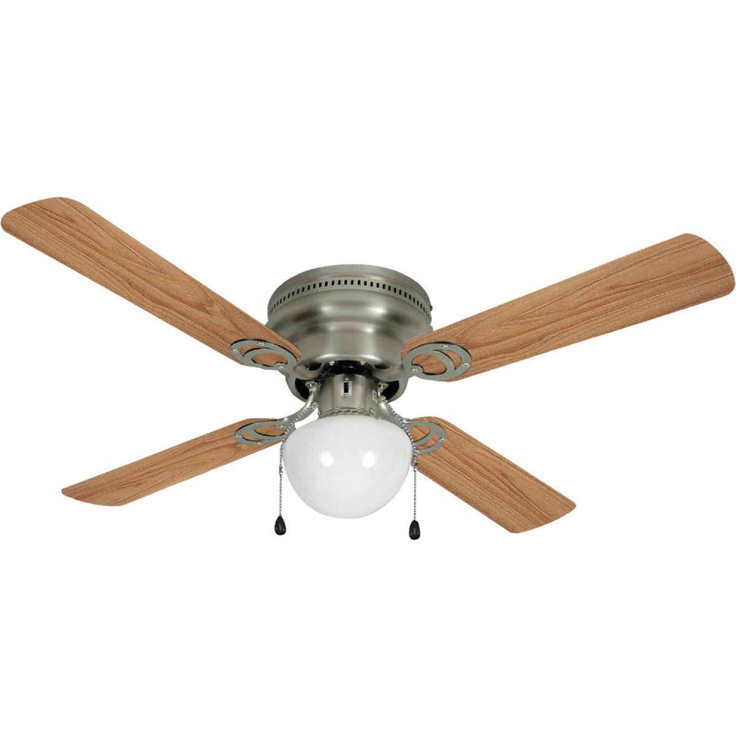 Home Impressions Neptune 42 In. Brushed Nickel Ceiling Fan with Light Kit Image 1
