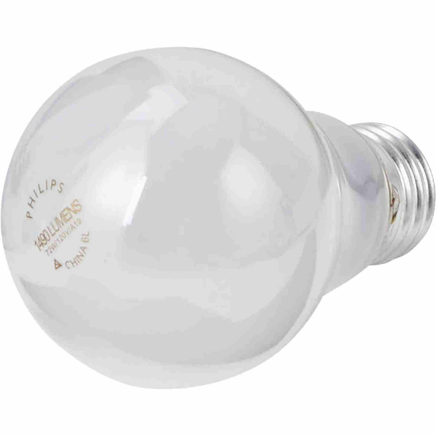 Philips EcoVantage 100W Equivalent Soft White Medium Base A19 Halogen Light Bulb (4-Pack) Image 3